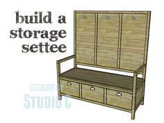 Plans to Build a Storage Settee
