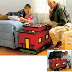 Caboose-Inspired Toy Box