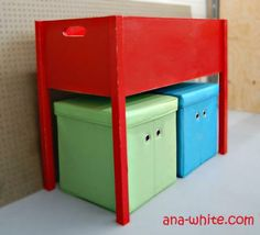 Toy box with Legs