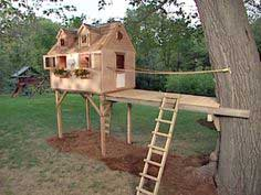 HOW TO BUILD A BRIDGE FOR A TREE FORT