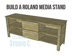 Build a roland media stand