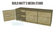 Plans for a media stand