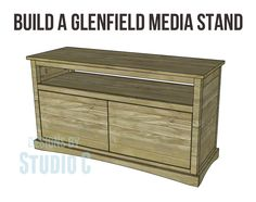 Pier one inspired media stand
