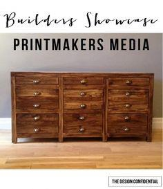 RH Inspired Printmaker's Media Console