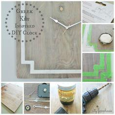 Greek key inspired DIY clock