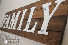 DIY Wooden Family Sign
