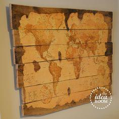 Wood pallet map tutorial