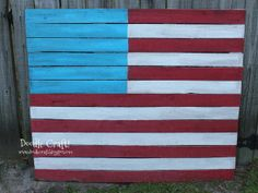 American Flag Upcycled Pallet
