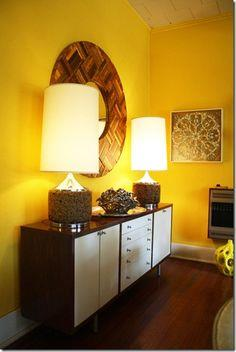Wood Shims Mirror