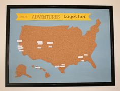 Adventure map wall art