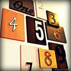 Upcycled House Number Wall Art