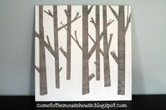 Wooden Tree Painting