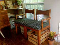 Settee Bench from Two Chairs