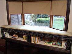 Window Bench and Bookshelf