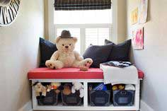 Window Seat With Toy Storage