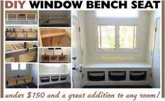 DIY Wooden Window Bench