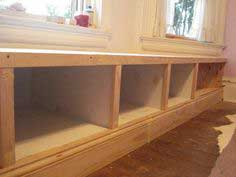 Window seat built in