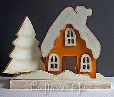 Winter and Christmas Wood Craft