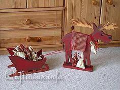 Wooden Moose and Sleight Advent Calendar - Tutorial
