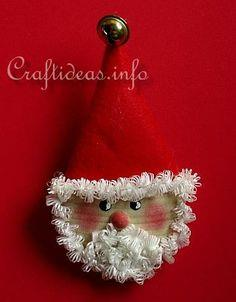 Wooden Santa Lapel Pin Tutorial