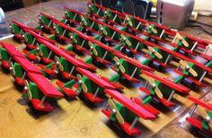 Toy Airplane Christmas Ornaments Using An Assembly Line