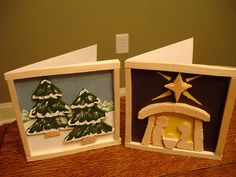 Balsa Wood Christmas Cards