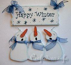 Happy Winter Snowmen Welcome Sign