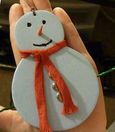 How to Make a Snowman Christmas Ornament