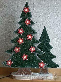 Wooden Lighted Christmas Trees