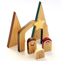 Easy to make wood nativity scene