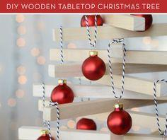 Make a Modern Wooden Tabletop Christmas Tree