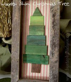 DIY Wooden Frame and Shim {paintstick} Christmas Tree