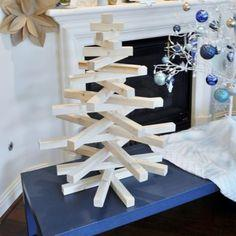 modern wooden christmas tree