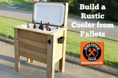 Rustic Cooler from Pallets – tutorial