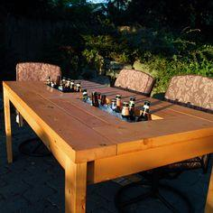 Patio Table with built-in cooler Tutorial