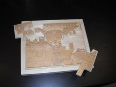 Make an etched jigsaw puzzle