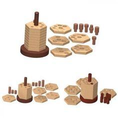 Wooden stacker puzzle plan