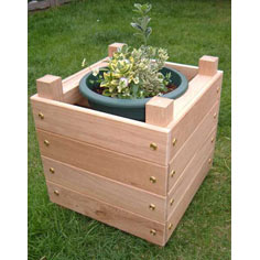 Chunky Wooden Planter