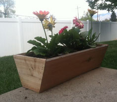 Simple Cedar Flower Box