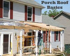 Porch roof construction tutorial