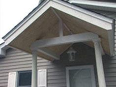 How to shingle a portico roof