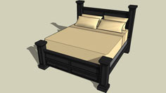 Four Post King Bed Plans
