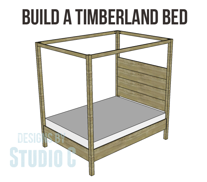 timberland queen bed plans