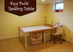 Cheap & Easy: Build a Large (or tiny) Sewing & Crafting Table