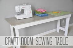 DIY Craft Room Table Sewing Table tutorial