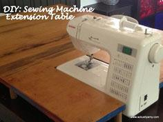 sewing machine extension table tutorial