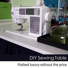 DIY Flatbed Sewing Table Tutorial