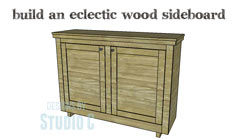 DIY Plans to Build an Eclectic Wood Sideboard