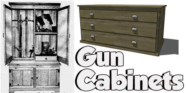Gun Cabinet Plans Gun Rack Plans Ammunition Box Plans