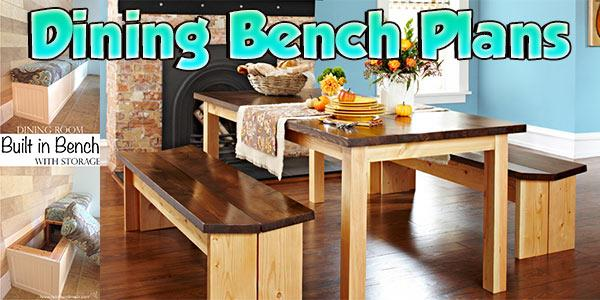 Dining Bench Plans at PlansPin.com
